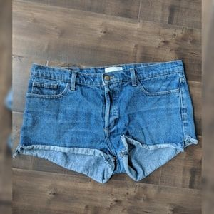 American Apparel Button-up Denim Cut off Shorts